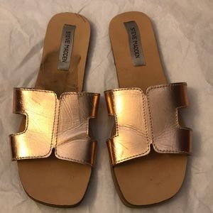Steve Madden rose gold slides/sandals